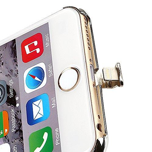 Leaning Tech Wireless Charging case custodia/cover caricabatterie Caricatore Qi Standard per iPhone 6/6S pelle marrone