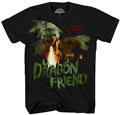 Disney Boys' Big Boys' Pete's Dragon T-Shirt, Black, LARGE