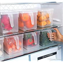 FastUnbox Airtight and Reusable Refrigerator Food Storage Containers with Handles to Cover Fruits and Vegetable(Size:-28 X 13 X 15 cm) (4)