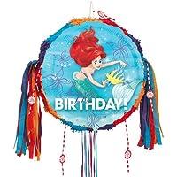 Ariel Happy Birthday Pull String Pinata