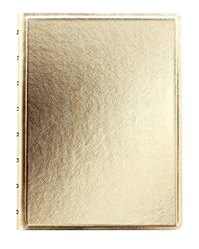 filofax-a5-rellenable-cuaderno-saffiano-oro