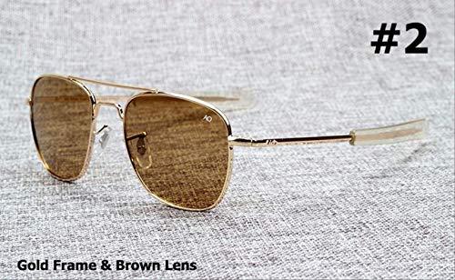 MJDL Mode armee militär ao pilot 54mm sonnenbrille marke amerikanische optische glaslinse sonnenbrille 2