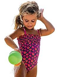 25369 Fashy Mädchen Badeanzug, Apfelmuster m. leichten Rüschen, versch. Größen