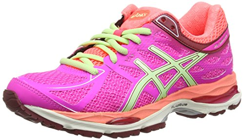 Asics Gel-cumulus 17 (2a), Damen Laufschuhe Pink (pink Glow/pistachio/flash Cora 3587)