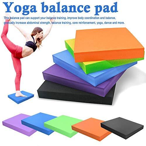 Cutito Balance Schaumstoff Pad, Training rutschfest Wasserfest Weich Yogamatte Koordination Matte für Fitnesstraining - Orange, 40x35x5