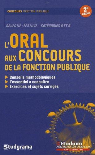 L'oral aux concours de la fonction publique
