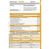 """Caledonia signos 58175""""a un permiso de trabajo: el trabajo General"""" etiqueta, 3parte NCR, 210mm x 297mm (Pack de 10)"""