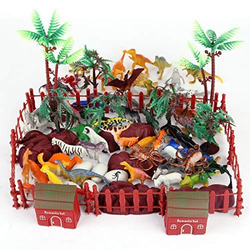 Spielzeug, Kinder Tier Figuren Set von Dschungel Tieren,Unterwasser Tiere, Dinosaurier-Modell, Wildtiere Spielzeuge für Jungs und Kinder ()