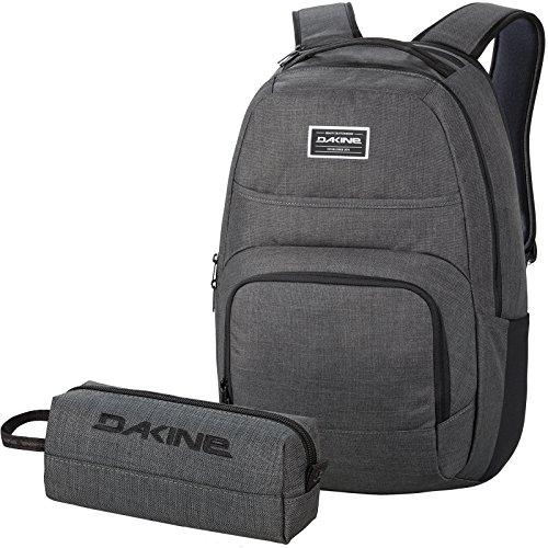 DAKINE 2er Set Schulrucksack Laptop Rucksack Campus DLX + Accessory CASE Mäppchen Carbon (Kids Set Mäppchen)
