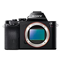 Sony ILCE7RB.CE Alpha a7R Full Frame Compact System Camera Body - Black (36.4MP Exmor Sensor) 3in LCD Screen by Sony
