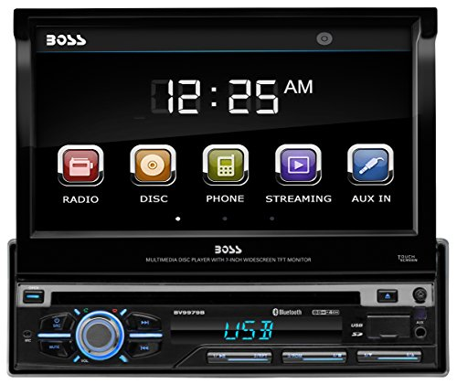BOSS AUDIO BV9979B Single-DIN DVD Player Autoradio mit ausfahrbarem 7