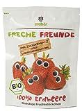 erdbär Freche Freunde 10er Pack Bio Fruchtchips 100% Erdbeere, 12g