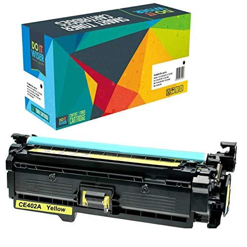 Do it Wiser Toner Kompatibel HP507A CE403A für HP 500 Color M551 M551n M551dn M551xh MFP M570 M570dn M570dw M575 M575c M575f M575dn (Gelb) - Laserjet Color M551n-drucker Hp