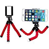 Unigear Adjustable Flexible Mini Portable Tripod Stand with Universal Smartphone Clip Holder (Red)