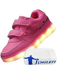 [Present:kleines Handtuch]Schwarz EU 33, Flashing Mädchen Turnschuhe Schuh leuchten weise USB Kind Glow LED beiläufige L