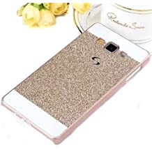 Semoss Ultra Slim Thin 3D Bling Cristal Funda de Diamante Carcasa para Samsung Galaxy A5 (Version 2015) Plastico TPU Bumper Hardcase Cover - Gold