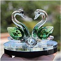 Paellaesp Verde Cristal Cisne Boda Decoración Estatuilla Regalos Artesanía ...