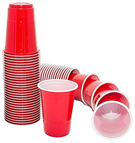 Iconic Red American Large Party Cups - Qty 50 -