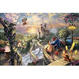 Van Eyck Beauty & The Beast Thomas Kinkade Disney Dreams Painting Prints on Canvas Wall Art Picture for Living Room Home Decorations(Inner Framed)