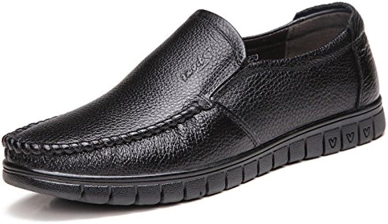 Zapatos De Cuero para Hombres Zapatos De Hombre Respirables Ocasionales -