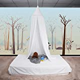 Ropa De Cama De Bebé Cúpula Redonda Cama Colgante Canopy Kids Play Tent Cortina De Mosquitera Para Bebé Niños Lectura Reproducción Decoración De La Habitación ( Color : Blanco )