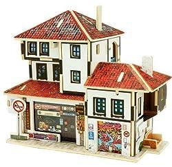 Creative Assemble Puzzle Toys Child Early Education Wooden 3D Puzzle House Turkey Souvenir Shop