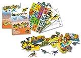 Folia 32002 3D-Modellogic - Juego de 3D con pegatinas de dinosaurios (88 pegatinas)