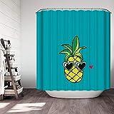 YuLl Europäische und Amerikanische Kunst Kreativ Farbe Duschvorhang Badezimmer Wasserdicht Anti-schimmel Vorhänge Vorhänge an Den Fenstern mit 12 Haken W180*H 180 cm 100% Polyester Produktion
