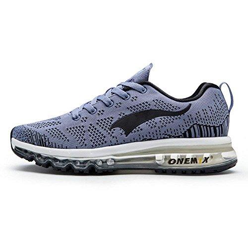 OneMix Herren Luft Max Knit Trail Schuhe FLeichte Jogging Gym Trainer Schuhe Sneaker 43 Grau