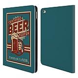 Head Case Designs Offizielle Lantern Press Bier Tester Männerhöhle Brieftasche Handyhülle aus Leder für iPad Air 2 (2014)