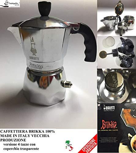 Bialetti CAFFETTIERA BRIKKA 2 Tazze Vecchia Produzione 100{102cef2c6b0fcd4d67e751e1e9d2369adbaf88e5b34f345a1f79f8074c664f1c} Made in Italy