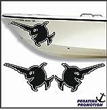 2 mal Sägefisch Aufkleber aus Hochleistungsfolie - viele Farben zur Auswahl - Angler Angelboot Sticker Boot Boote Beschriftung Bug Heck Fische Angeln Schlauchboot Nautic See Fischer Bootsbeschriftung Bootbeschriftung Fischen Sticker
