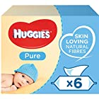 Huggies Pure Baby Wipes - 6 Packs (336 Wipes Total)