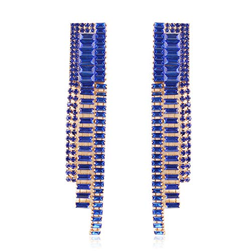 Europäische und amerikanische Legierung Diamant beliebte Kristall Multi-Color Quaste Ohrringe, High-End-Atmosphäre ()