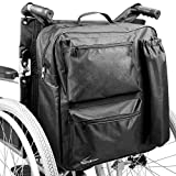 Multifunction Wheelchair Bag | Mobility Scooter Universal Backpack | Padded Rear Multi - Pocket High Quality Waterproof Storage | Pukkr