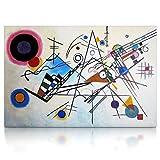 CanvasArts Komposition VIII Wassily Kandinsky - Leinwand Bild auf Keilrahmen Wandbild 09.1602 (100 x 70 cm)