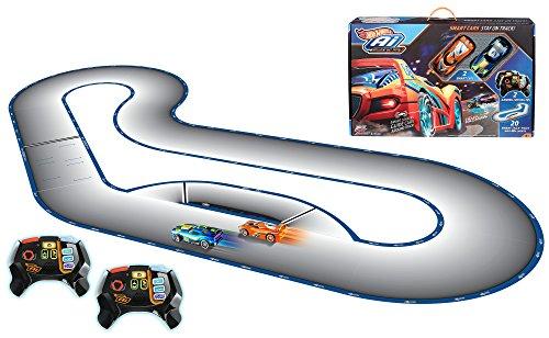 ferngesteuerte hot wheels Hot Wheels FBL83 Ai Intelligent Race System mit 2 Spielzeugautos und 2 Fernsteuerungen, Spielzeug ab 8 Jahren