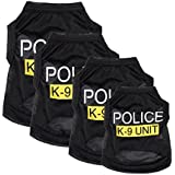 Yunt Pet Costumes Small Dog Cat Vest Police Puppy T-shirt Coat Pet Clothes Summer Apparel Costumes(X-Small)