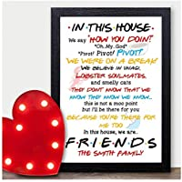 PERSONALISED In This House We Are TV Show Quotes Poster Print Birthday Christmas Xmas Gifts for Family Best Friends - ANY NAME and RECIPIENT - Black or White Frame A5, A4, A3 or Wooden Blocks