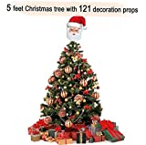 #5: TiedRibbons Christmas/xmas tree 5 feet with 121 Tree Hanging Ornaments   Christmas tree artificial   Christmas tree combo   xmas tree with decoration   xmas tree