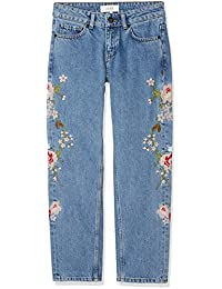 Just Female Women's Rock Flower Boyfriend Jeans