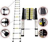 Sotech - Échelle Pliable, Echelle Telescopique, 3,8 mètre(s), Sac de transport OFFERT, EN 131, Charge maximale: 150 kg, Standards/Certifications: EN131