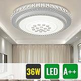 HG® 36W LED kristall Deckenbeleuchtung deckenleuchte Rund Mordern Abstrahlwinkel Wandlampe