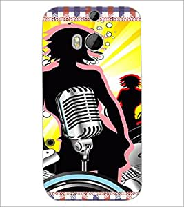 HTC ONE M8 QUOTE Designer Back Cover Case By PRINTSWAG