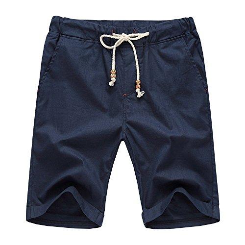 AIYINO Herren Leisure Fit Shorts in Verschiedenen Farben (Medium, Navy)