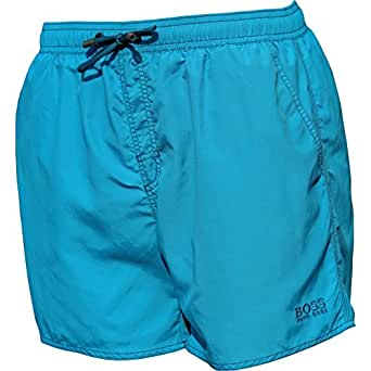 HUGO BOSS NEU BADESHORTS Lobster light blue Türkis aqua 450 S Badehose Boxer Shorts