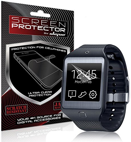 Skque 3 Pcs HD Clear Crystal Clear Screen Protector for Samsung Galaxy Gear 2 Neo [Lifetime replacement]  available at amazon for Rs.1019
