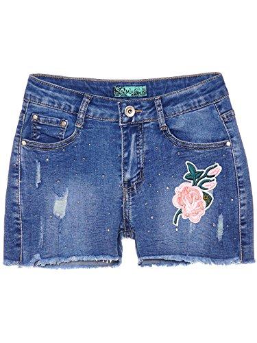 BEZLIT Mädchen Kinder Jeans Shorts Kurze Hose Used Spitzenbesatz Hot Pants 22594 Größe 140