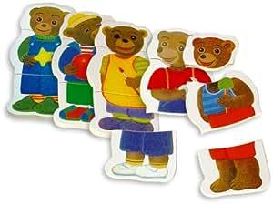 Vilac - Jouets en bois - Petit Ours Brun et ses habits puzzle