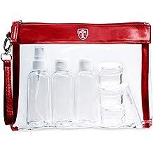 TRAVANDO Neceser transparente | 1l de capacidad | bolsa para llevar líquidos y cosméticos, equipaje